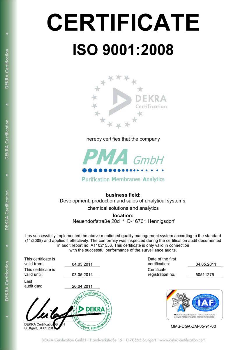 ISO 9001, membraPure