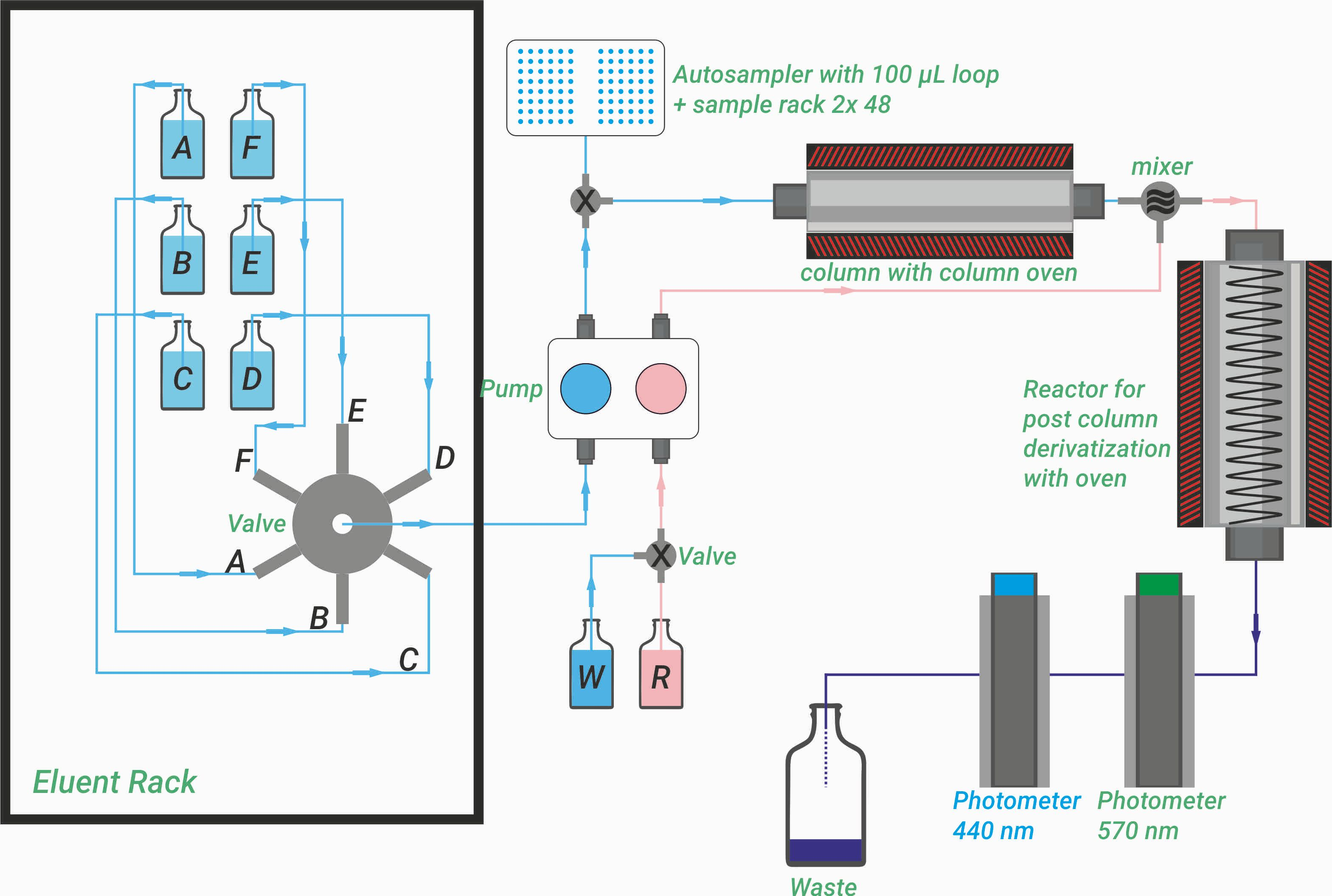 Flowchart, ARACUS, Amino Acid Analyzer, membraPure